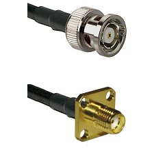 BNC Reverse Polarity Male Connector On LMR-240UF UltraFlex To SMA 4 Hole Female Connector Coaxial Ca