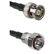 BNC Reverse Polarity Male on RG142 to 7/16 Din Male Cable Assembly