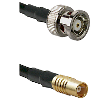 BNC Reverse Polarity Male on RG142 to MCX Female Cable Assembly