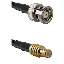 BNC Reverse Polarity Male on RG142 to MCX Male Cable Assembly