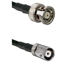 BNC Reverse Polarity Male on RG142 to MHV Female Cable Assembly
