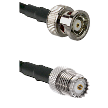 BNC Reverse Polarity Male on RG142 to Mini-UHF Female Cable Assembly