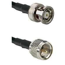 BNC Reverse Polarity Male on RG142 to Mini-UHF Male Cable Assembly
