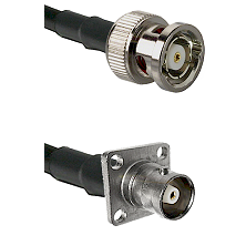 BNC Reverse Polarity Male on RG214 to C 4 Hole Female Cable Assembly