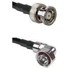 BNC Reverse Polarity Male on RG214 to 7/16 Din Right Angle Male Cable Assembly
