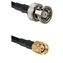 BNC Reverse Polarity Male on RG400 to SMA Reverse Thread Male Cable Assembly