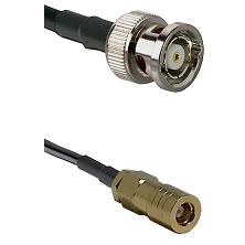 BNC Reverse Polarity Male on RG400 to SLB Female Cable Assembly