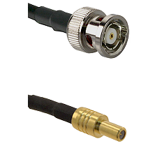 BNC Reverse Polarity Male on RG400 to SLB Male Cable Assembly