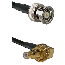 BNC Reverse Polarity Male on RG400 to SLB Male Bulkhead Cable Assembly