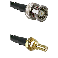 BNC Reverse Polarity Male on RG400 to SMB Male Bulkhead Cable Assembly