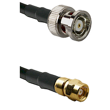 BNC Reverse Polarity Male on RG400 to SMC Female Cable Assembly