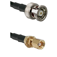 BNC Reverse Polarity Male on RG400 to SMC Female Bulkhead Cable Assembly