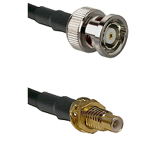BNC Reverse Polarity Male on RG400 to SMC Male Bulkhead Cable Assembly