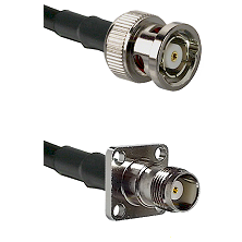 BNC Reverse Polarity Male on RG400 to TNC 4 Hole Female Cable Assembly