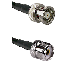 BNC Reverse Polarity Male on RG400 to UHF Female Cable Assembly
