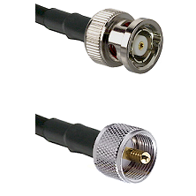 BNC Reverse Polarity Male on RG400 to UHF Male Cable Assembly