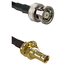 BNC Reverse Polarity Male on RG58C/U to 10/23 Female Bulkhead Cable Assembly