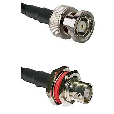 BNC Reverse Polarity Male on RG58C/U to C Female Bulkhead Cable Assembly