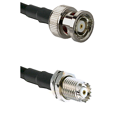 BNC Reverse Polarity Male on RG58C/U to Mini-UHF Female Cable Assembly