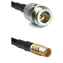 N Reverse Polarity Female on LMR100 to MCX Female Cable Assembly