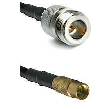 N Reverse Polarity Female on LMR100 to MMCX Female Cable Assembly