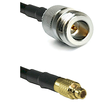 N Reverse Polarity Female on LMR100 to MMCX Male Cable Assembly
