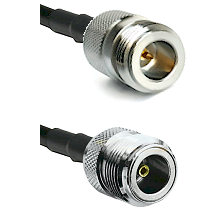 N Reverse Polarity Female on LMR100 to N Female Cable Assembly