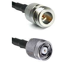 N Reverse Polarity Female on LMR-195-UF UltraFlex to TNC Reverse Polarity Male Coaxial Cable Assembl