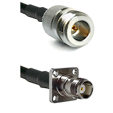 N Reverse Polarity Female on LMR-195-UF UltraFlex to TNC 4 Hole Female Cable Assembly