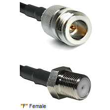 N Reverse Polarity Female Connector On LMR-240UF UltraFlex To F Female Connector Coaxial Cable Assem