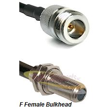 N Reverse Polarity Female Connector On LMR-240UF UltraFlex To F Female Bulkhead Connector Coaxial Ca