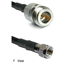 N Reverse Polarity Female Connector On LMR-240UF UltraFlex To F Male Connector Coaxial Cable Assembl