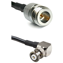 N Reverse Polarity Female Connector On LMR-240UF UltraFlex To MHV Right Angle Male Connector Coaxial