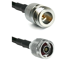 N Reverse Polarity Female on LMR240 Ultra Flex to N Reverse Polarity Male Cable Assembly