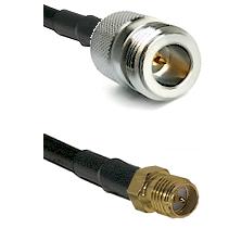 N Reverse Polarity Female on LMR240 Ultra Flex to SMA Reverse Polarity Female Cable Assembly