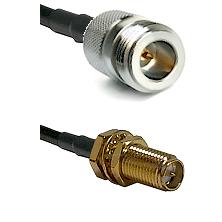 N Reverse Polarity Female on LMR240 Ultra Flex to SMA Reverse Polarity Female Bulkhead Coaxial Cable