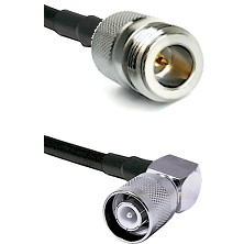 N Reverse Polarity Female Connector On LMR-240UF UltraFlex To SC Right Angle Male Connector Coaxial