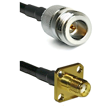 N Reverse Polarity Female Connector On LMR-240UF UltraFlex To SMA 4 Hole Female Connector Coaxial Ca