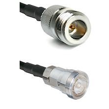 N Reverse Polarity Female on RG142 to 7/16 Din Female Cable Assembly