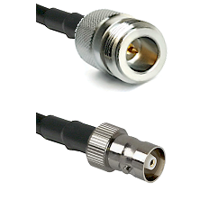 N Reverse Polarity Female on RG142 to C Female Cable Assembly