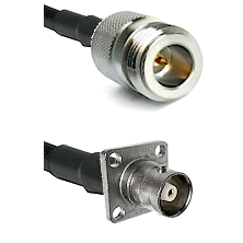 N Reverse Polarity Female on RG142 to C 4 Hole Female Cable Assembly