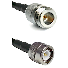 N Reverse Polarity Female on RG142 to C Male Cable Assembly