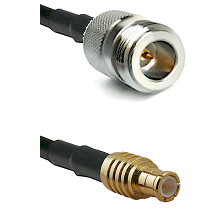 N Reverse Polarity Female on RG142 to MCX Male Cable Assembly