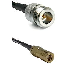 N Reverse Polarity Female on RG223 to SLB Female Cable Assembly