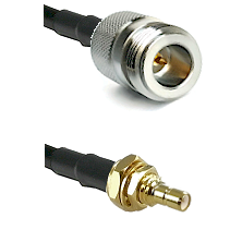 N Reverse Polarity Female on RG316 to SSMB Male Bulkhead Cable Assembly