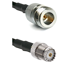 N Reverse Polarity Female on RG58 to Mini-UHF Female Cable Assembly