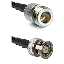 N Reverse Polarity Female on RG58C/U to BNC Reverse Polarity Male Cable Assembly