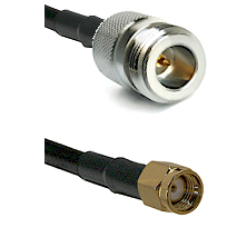 N Reverse Polarity Female on RG58C/U to SMA Reverse Polarity Male Cable Assembly