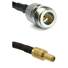 N Reverse Polarity Female on RG58C/U to SLB Male Cable Assembly