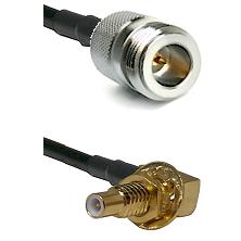 N Reverse Polarity Female on RG58C/U to SLB Male Bulkhead Cable Assembly